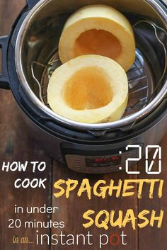 20 minutes flat means from the moment you cut your spaghetti squash in half until the moment your squash is done cooking. The instant pot often takes 10 minute to reach pressure and begin the