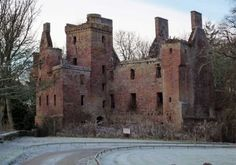 Redcastle at Killearnan on the Black Isle. It's laird is said to have agreed to hand over a local man for a human sacrifice in the late PIC Wikicommons. Castle Ruins, Castle House, Medieval Castle, Abandoned Castles, Abandoned Buildings, Abandoned Places, Scotland Castles, Scottish Castles, Beautiful Buildings