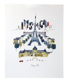 Another great find on #zulily! Paris City Print by albie designs #zulilyfinds