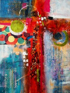 Dreamcoat: Mixed media and collage on canvas