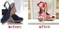 DIY crafts - shoe makeovers