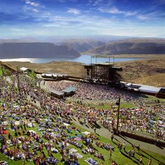See the Dave Matthews Band at The Gorge (Washington State) A Beautiful place for a concert ! The Places Youll Go, Places To See, The Gorge Amphitheater, Summer Music Festivals, Rock Festivals, Evergreen State, Festival Camping, Outdoor Venues, Dave Matthews