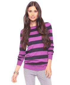 Fab Striped Sweater Top $14.50