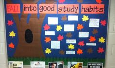 "october bulletin boards My September bulletin board ""Fall into good study habits"" Speech Bulletin Boards, Superhero Bulletin Boards, Elementary Bulletin Boards, College Bulletin Boards, Kindergarten Bulletin Boards, Halloween Bulletin Boards, Birthday Bulletin Boards, Reading Bulletin Boards, Winter Bulletin Boards"