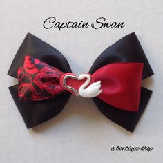 captain swan hair bow by abowtiqueshop on Etsy https://www.etsy.com/listing/245850160/captain-swan-hair-bow