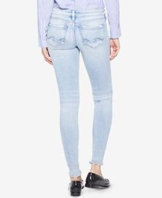 Silver Jeans Co. Tuesday Ripped Super-Skinny Jeans - Blue 29