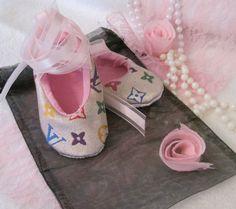 Louis Vuitton Baby Shoes | CUSTOM MADE LOUIS VUITTON BABY SHOES - WHITE MURAKAMI