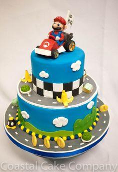 Brilliant Image of Mario Birthday Cakes . Mario Birthday Cakes Mario Kart Themed Birthday Cake Mario Kart Cake Lol In 2018 Mario Birthday Cake, Super Mario Birthday, Custom Birthday Cakes, Themed Birthday Cakes, Themed Cakes, 5th Birthday, Super Mario Bros, Bolo Super Mario, Bolo Fondant