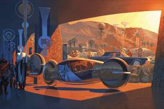 SYD MEAD. THE VISION IMAGINED AND PAINTED,   OF A FUTURE (ALMOST) PERFECT.