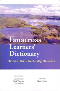 Tanacross Learners' Dictionary by Arnold, Irene Solomon ; Thoman, Rick ; Holton, Gary The Tanacross Learners' Dictionary contains about 2,000 English headwords with nearly 4,500 Tanacross words and example sentences, as well as numerous examples of verb paradigms. The dictionary also includes an introduction to Tanacross grammar, as well as a guide to the Tanacross writing system. With illustrations, bibliography, and index. Edited by Gary Holton. Language: Tanacross (TC03) ⭐️ Pin for later…