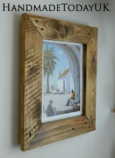 Handmade Rustic Industrial Picture Frame made from Reclaimed Recycled Wood