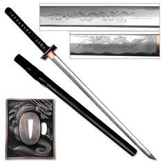 Masahiro Hand Forged Ninja Sword - Dragon Tsuba