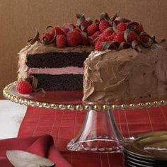 Chocolate Raspberry Cake Recipe - on the menu this Thanksgiving - for the (weirdly) pumpkin adverse folks.