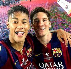 Neymar & Messi selfie, Copa del Rey 2014/15