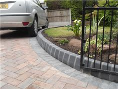 Favorite herringbone driveway pattern  Love the degree on the angle  Block Paving Driveway Liverpool | Moss Landscapes Liverpool