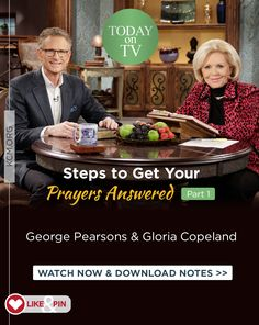 This week on the Believer's Voice of Victory broadcast, we're continuing our series on steps to take to get your prayers answered. After you have made your requests known to God, and while you're waiting for the answers to your prayers, the next step to take is the one of faith! Watch as Gloria Copeland and Pastor George Pearsons go through the steps that will bring you to victory every time. www.kcm.org/watch