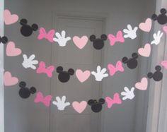 Minnie inspirado papel guirnalda bandera por DCBannerDesigns                                                                                                                                                                                 Más