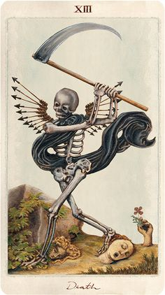 Death. Pagan Tarot by Uusi, coming to Kickstarter this October. http://uusi.us/