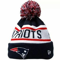 Mens New England Patriots New Era Navy Blue Biggest Fan Redux Knit Beanie 167cc5385bd