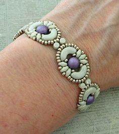 Linda's Crafty Inspirations: Bracelet of the Day: Tweaked Jolie Band - Mint & Purple