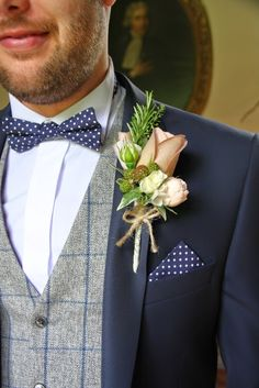 The Bride Groom's Rather special Vintage Boutonniere