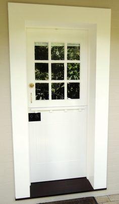 White timber barn door. www.Allkind.com.au