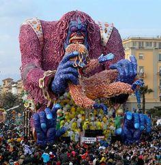 Viareggio Carnival, Italy.