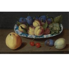 Jacob van Hulsdonck (Antwerpt 1582 - 1647), a still life of wild strawberries and a carnation in a ming bowl, with cherries ... - Eloge de l'Art par Alain Truong