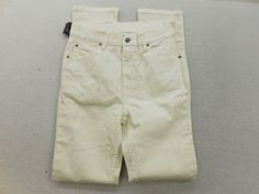 New Urban Outfitters Cheap Monday Mens Ivory Second Skin Denim Jeans Sz 31 X 32 #CheapMonday #SlimSkinny