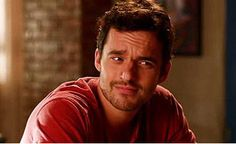 I love this picture of Jake Johnson. Jake Johnson is so hot, and he always makes the funniest facial expressions on New Girl. :)