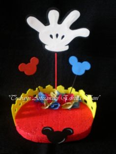 Goma Eva Minnie Mouse | Artesanales Quot Estrella Vani Cumple Con Mickey Minnie Mouse