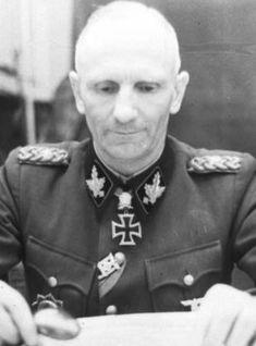 Herbert Otto Gille (March 8, 1897 in Gandersheim – December 26, 1966) was a German general, and as a winner of the Knight's Cross with Oakleaves, Swords and Diamonds and of the German Cross in Gold, the most highly decorated member of the Waffen SS during World War II. By the end of the war he held the rank of SS-Obergruppenfuhrer und General der Waffen-SS.
