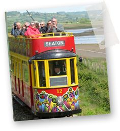 Seaton Trams in Devon. Narrow gauge heritage trams betwwen Seaton, Colyford and Colyton in East Devon. Devon Coast, Devon Uk, Devon And Cornwall, North Devon, Fun Days Out, Family Days Out, Visit Devon, Outdoor Play Areas, Self Catering Cottages