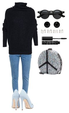 """""""Senza titolo #1522"""" by monsteryay ❤ liked on Polyvore featuring Vetements, Acne Studios, Edie Parker, Dee Keller, NARS Cosmetics, Givenchy and Maison Margiela"""