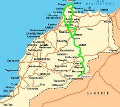 Recorrido Marruecos, de Norte a Sur