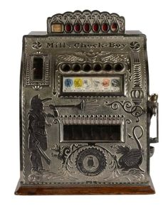 Six way tabletop model machine features unique character reels. on Jan 2016 Gambling Machines, Vending Machines, Vintage Slot Machines, Old Stove, Arcade Machine, Black And White Pictures, Gumball, Fun Games, Arcade Games