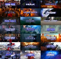 """All 21 MCU movies logos from """"To The End"""" TV Spot : marvelstudios Avengers Cast, Avengers Memes, Marvel Avengers, Avengers Imagines, Marvel Logo, Thanos Marvel, Lego Marvel, Marvel Heroes, Avengers Pictures"""