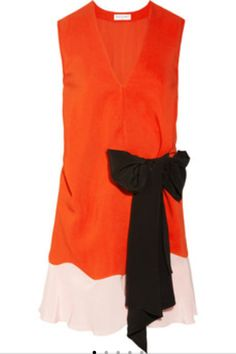 Colour block bow dress  by Vionnet