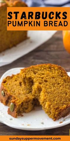 Our easy Starbucks Pumpkin Bread recipe tastes even better than the pumpkin loaf from Starbucks, and costs so much less to make at home! #SundaySupper #pumpkin #pumpkinbread #bread #pumpkinrecipes #pumpkintreat #starbucks #copycat