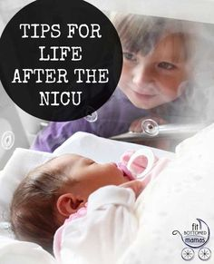 It can definitley be scary for first-time moms. We have some great tips to help with life after the NICU. | Fit Bottomed Mamas