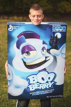 Boo Berry cereal box costume