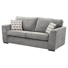 Tesco direct: Boston Large 3 Seater Sofa, Dark Grey