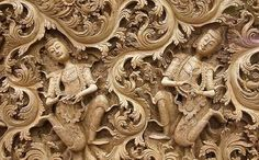 Thai wood carvings