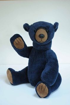 Ronnie - large one of a kind handmade mohair teddy bear, 18 inches, by BigFeetBears