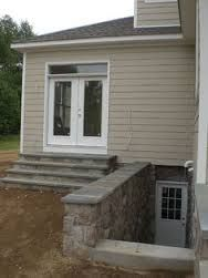 basement apartment entrance. Westchester NY new outside basement stairs design mason contractor builder  Basement brainwaves Pinterest stair Basements and