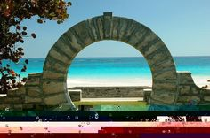 Moon Gate - In Bermuda, it is regarded as good luck for newlyweds to step through the gate.