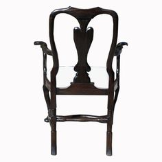 From the Susanne Hollis Collection, a Baroque Style splat back arm chair in an ebonized finish. Side Chair also available.  || TheHighBoy || #highboystyle #antiquesmakeitbetter #antiques #vintage