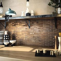 Copper Kitchen Wall Tiles - You may experiment with the usage of the kitchen backsplash tiles when it comes to the kitchen t Brick Look Tile, Marble Look Tile, Copper Kitchen, Rustic Kitchen, Kitchen Splashback Tiles, Traditional Tile, Feature Tiles, Mosaic Tiles, Tiling