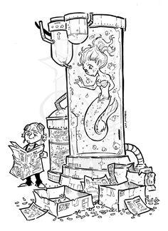 mermaid salt water tank by travisJhanson on deviantART