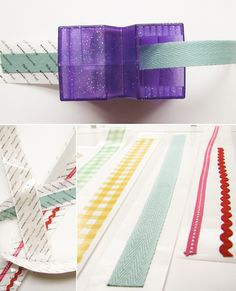 Directions on how to make your own fabric tape... genius and oh-so-cute!